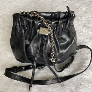 Badgley Mischka Leather Mini Drawstring Crossbody
